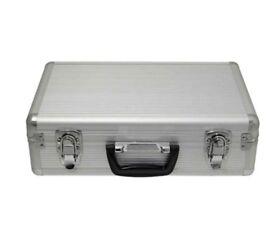 Aluminium Flight Case Microphone Camera Silver 400x240x125mm Foam Insert
