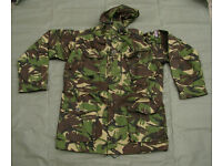 New - British Forces issue Windproof Combat Smock in (woodland pattern) DPM Woodland colors