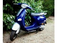 VESPA ET4 Engine(under34k Miles) 2001, and few parts, clocks, exhaust, handlebars +forks etc