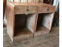Pair Of Limed Oak Bedside Chests