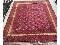 Large, Clean, Hand knotted, Bokhara Rug (Reduced Price)