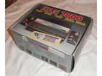 Vintage Atari 7800 games console - boxed and complete