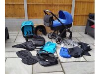 Oyster carrycot and stroller with lots of accessories