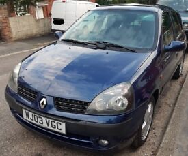 Renault Clio 1.5 Diesel, long MOT, service history, £30/year road tax, cheap 4 insurance, reliable