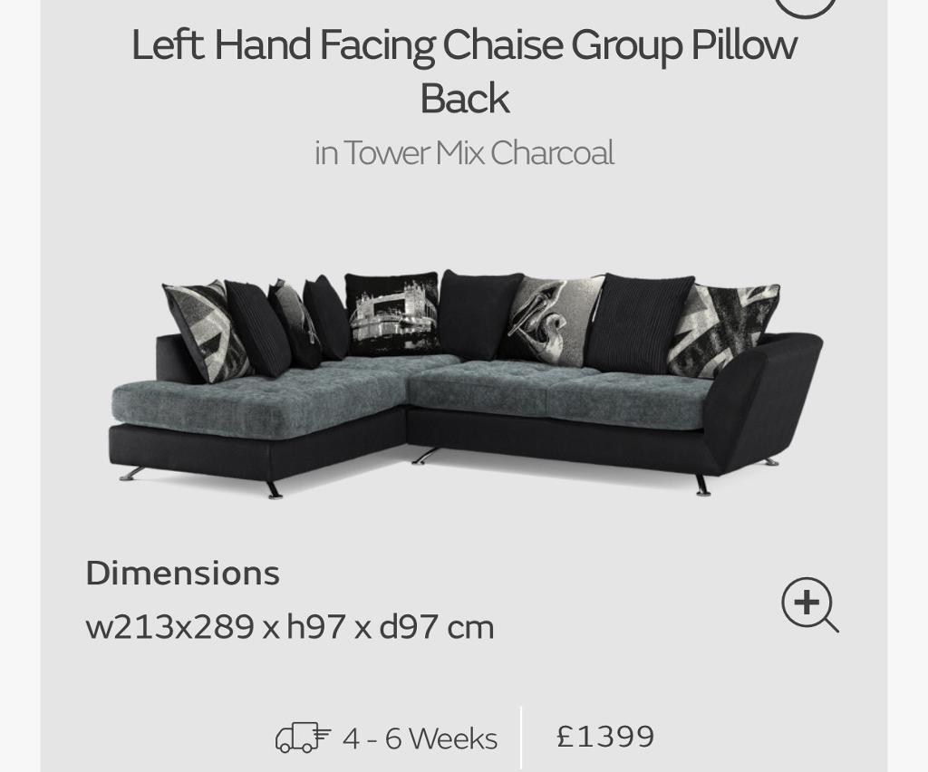 Large Napier Corner Sofa Left Hand Facing Sofology