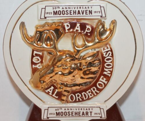 LOYAL ORDER OF MOOSE, MOOSEHEART, MOOSEHAVEN, DECANTER, ROYAL HALBURTON-1972-EUC