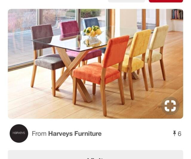 Super Harveys Multi Coloured 6 Chairs And Dining Table Very Trendy In Stapleton Bristol Gumtree Creativecarmelina Interior Chair Design Creativecarmelinacom