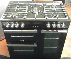 Belling 90cm wide range dual fuel cooker