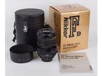 Nikon 85mm F2.8 PC-D Micro Nikkor Tilt Shift lens