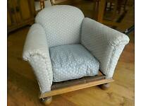 Child's armchair for upholstery