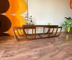 Stunning Rare Danish Teak Coffee Table with 2 Tables by ...