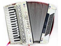 Jonelli - 37 / 96 Bass 4 Voice Musette Italian Piano Accordion with Full MIDI