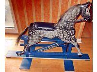 Wooden Rocking Horse.