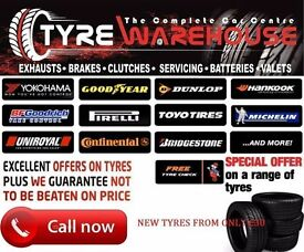 BRAND NEW BUDGET AND PART WORN TYRES FROM £15 SUPPLIED AND FITTED ALL SIZES