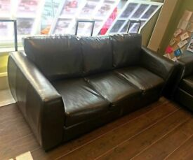 3 SEATER SOFA - FAUX LEATHER - EXCELLENT CONDITION