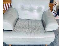 Armchair grey leather