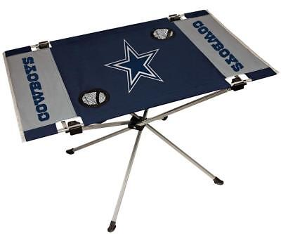 Dallas Cowboys Endzone Tailgate Table [NEW] NFL Portable Chair Fold Party Dallas Cowboys Tailgate Table