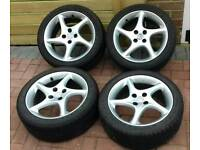 MX5 16'' alloy wheels with Goodyear f1 tyres.