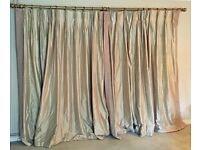 Pair of James Hare Dupion Silk interlined Curtains