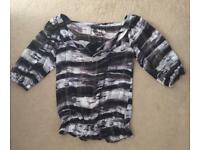 Ted Baker 100% Silk Top Size 10 (2)