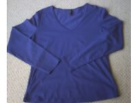 Women's Purple Long Sleeve T-Shirt from Marks & Spencer Size 16 NEW