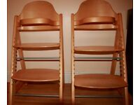 Height Adjustable children's chairs