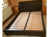 King Size Prado Faux Leather Bed Frame with Head Board