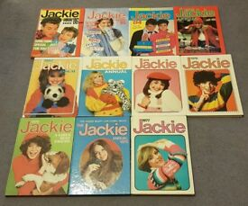 Jackie annuals 1975 to 1986 (excluding 1981)