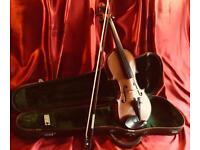 Antique German Strad Copy Violin Set made for Edgar Horne, Derby.
