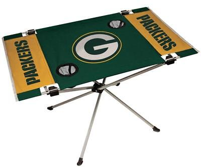 Green Bay Packers Endzone Tailgate Table [NEW] NFL Portable Chair Fold Party - Packers Tailgate Party