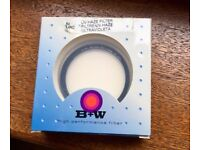 High quality B+W UV-Haze filter 58mm with multi-resistant coating, in excellent condition, £20