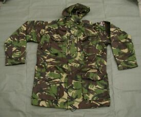New - British Forces Issue Windproof Combat Smock in (woodland pattern) DPM colors