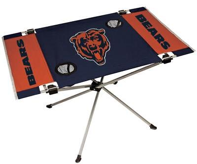 Chicago Bears Endzone Tailgate Table [NEW] NFL Portable Chair Fold (Chicago Bears Tailgating Table)