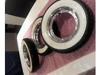 Vespa Lml Continental K62 white wall tyres
