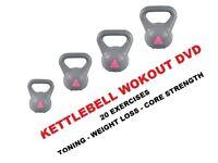 Kettlebell Set 2-4-6-8kg Strong Arm Kettlebells, Free DVD: NEW