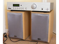 Acoustic Solutions sp100 Amplifier + Eltax monitor 3 speakers 90w