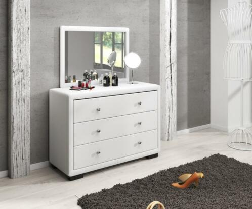 Bekend ≥ Kaptafel make-up tafel Dover wit met spiegel toilettafel #QT84