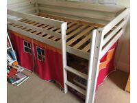 Children's Solid Wood Mid Sleeper Bed