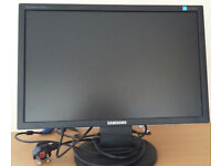 For sale widescreen 20 inch Samsung LCD TFT monitor