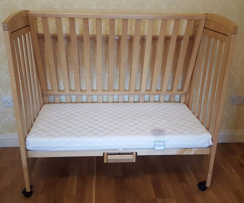 mothercare troll bedside cot cosleeper and mattress