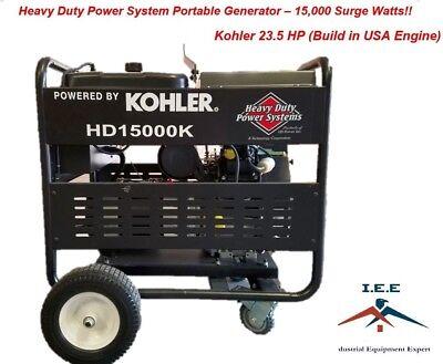 15000 Watt Generator Heavy Duty Kohler 23.5hp Made Is Us Engine Electric Start