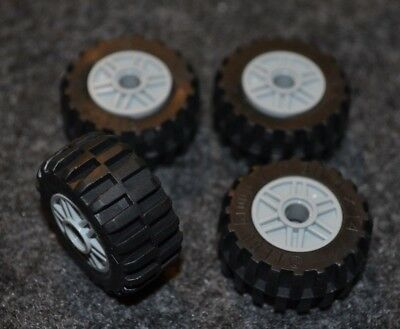 14 Car Rims - Tires - (4) 30.4 x14 Lego Tires with Gray Rims ~ NEW Lego ~ Truck, SUV or Car