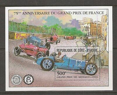 Ivory Coast SC # 616 75th Anniversary Of Grand Prix Of france . CTO. MNH