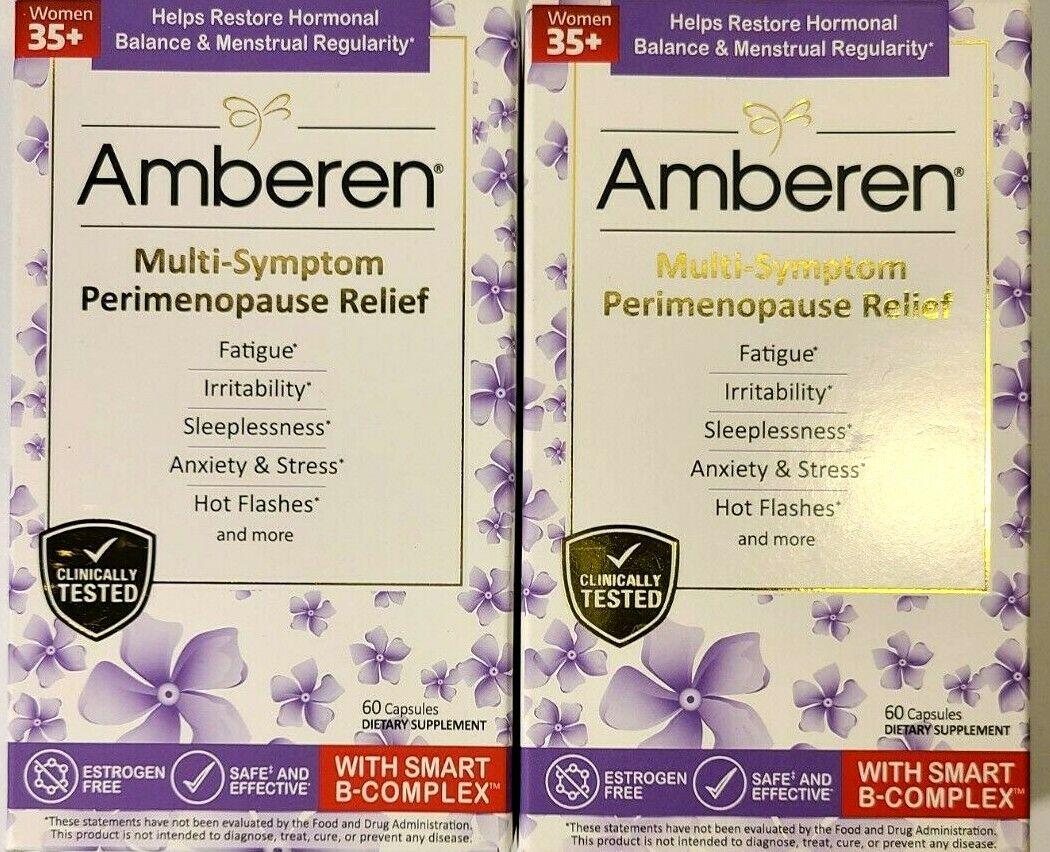 2 PK Amberen Multi-Symptom Perimenopause Relief Fatigue Anxiety Stress exp:01/22