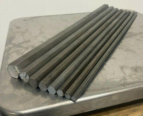 12L14 Steel Bar Stock Assortment 8 Hexagon Bars See Description