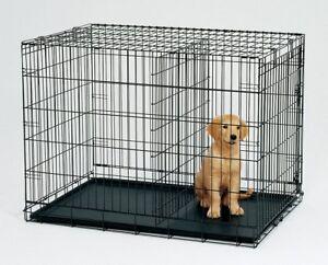 "36"" Metal Pet Dog Cat Puppy Train Cage Crate Pen"