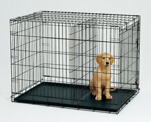 "36"" Metal Pet Dog Cat Puppy Train Cage Crate Pen"