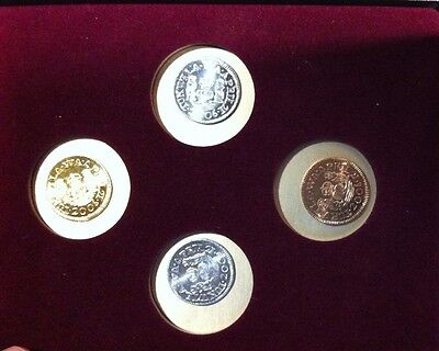 2006 PNNA CONVENTION 4 COIN SET .999 GOLD,SILVER,COPPER,PEWTER SET. LOW MINTAGE