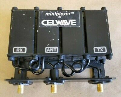 Celwave Uhf Mobile Band Reject Duplexer Miniplexer Sma Pn 7640 Sn 05-95c-86