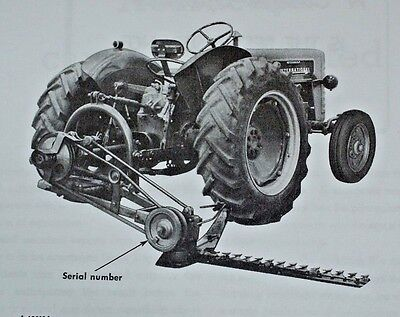 Ih International Farmall Mccormick 100 2pt 3pt Balanced Head Sickle Mower Manual